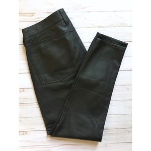 J. Crew Factory | faux leather skinny pants | 28